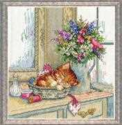 Cat Nap - Design Works Crafts Cross Stitch Kit