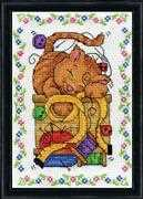 Sewing Cat - Design Works Crafts Cross Stitch Kit