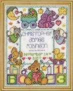 Design Works Crafts ABC Baby Sampler Birth Sampler Cross Stitch Kit