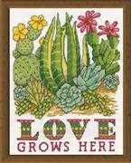 Design Works Crafts Cactus Love Cross Stitch Kit