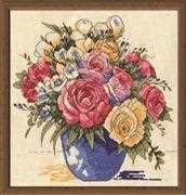 Design Works Crafts Pastel Floral Vase Cross Stitch Kit