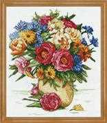 Design Works Crafts Majestic Floral Cross Stitch Kit