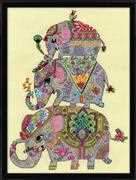 Elephant Trio - Design Works Crafts Cross Stitch Kit