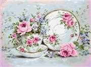 Trio with Blooms on Aida - Luca-S Cross Stitch Kit
