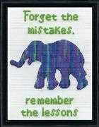 Design Works Crafts Forget the Mistakes Cross Stitch Kit