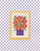 Design Works Crafts Purple Vase Floral Cross Stitch Kit