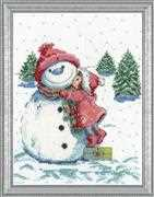 Design Works Crafts Red Hat Snowman Cross Stitch Kit