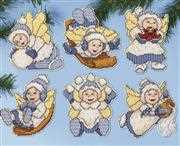 Winter Angel Ornaments - Design Works Crafts Cross Stitch Kit