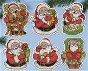 Jolly Santa Ornaments - Design Works Crafts Cross Stitch Kit