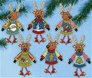 Christmas Jumper Ornaments - Design Works Crafts Cross Stitch Kit