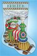 Design Works Crafts Santa Train Stocking Cross Stitch Kit