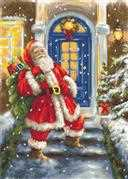 Luca-S Santa's Visit Christmas Cross Stitch Kit
