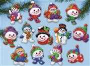 Design Works Crafts Jolly Snowman Ornaments Christmas Craft Kit