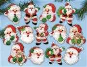 Design Works Crafts Joyful Santa Ornaments Christmas Craft Kit