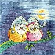 Night Owls - Aida - Heritage Cross Stitch Kit