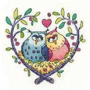 Heritage Love Owls - Aida Wedding Sampler Cross Stitch Kit