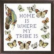 Home Tribe - Design Works Crafts Cross Stitch Kit