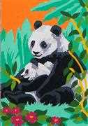Panda & Cub - Grafitec Tapestry Canvas