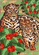 Leopard & Cub - Grafitec Tapestry Canvas
