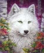 White Wolf - Grafitec Tapestry Canvas