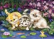 Kitten Trio - Grafitec Tapestry Canvas