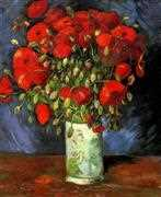 Red Poppies - Grafitec Tapestry Canvas
