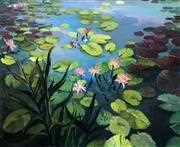 Lily Pond - Grafitec Tapestry Canvas