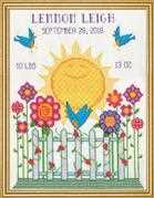 Design Works Crafts Sunshine Birth Sampler Cross Stitch Kit