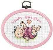 Baby Girl Mini 3 - Permin Cross Stitch Kit