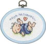 Baby Boy Mini 3 - Permin Cross Stitch Kit