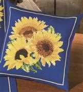 Permin Sunflowers Pillow Cross Stitch Kit