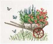 Wheelbarrow - Permin Cross Stitch Kit