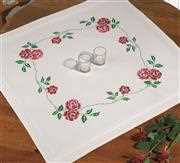 Roses Tablecloth - Permin Cross Stitch Kit