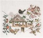 Eva Rosenstand Bird Table Christmas Cross Stitch Kit