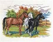 Eva Rosenstand Three Horses Cross Stitch Kit