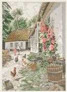 Hollyhocks - Eva Rosenstand Cross Stitch Kit
