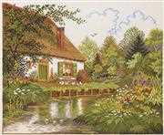 House and Forest Lake - Eva Rosenstand Cross Stitch Kit