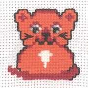 Ginger Cat - Permin Cross Stitch Kit