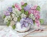 Lilacs on Aida - Luca-S Cross Stitch Kit
