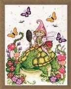 Turtle & Fairy - Design Works Crafts Cross Stitch Kit