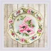 RIOLIS Anemone Plate Satin Stitch Embroidery Kit