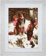 Luca-S Snowball Fight - Petit Point Tapestry Kit
