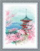 RIOLIS Sakura - Pagoda Cross Stitch Kit