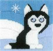 RIOLIS Husky in Snowdrift Long Stitch Kit