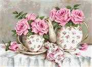Luca-S Morning Tea and Roses - Petit Point Tapestry Kit