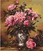 Luca-S Vase of Peonies - Petit Point Tapestry Kit