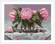 Vase of Peonies - Petit Point - Luca-S Tapestry Kit