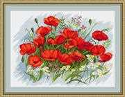 Luca-S Poppies I - Petit Point Tapestry Kit