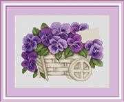 Luca-S Pansies - Petit Point Tapestry Kit