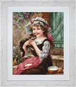 Luca-S The Little Kitten - Petit Point Tapestry